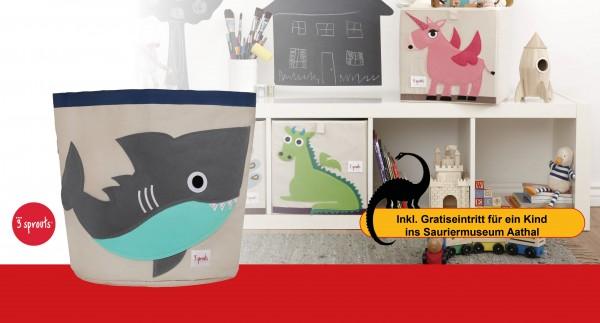 3SPROUTS Spielzeugkorb Hai