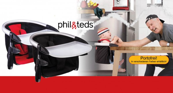 PHIL AND TEDS LobsterV2 Tischsitz rot oder schwarz PEARHEAD LobsterV2 Tischsitz rot schwarz/schwarz