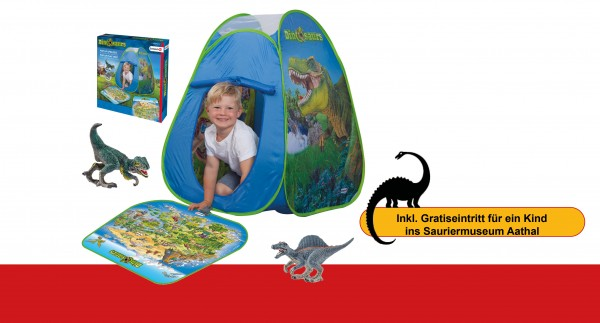 JOHN Pop Up Zelt Schleich Dinos