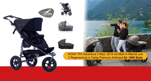 TFK Adventure 2 Premium Anthrazit MEGADEAL 4in1